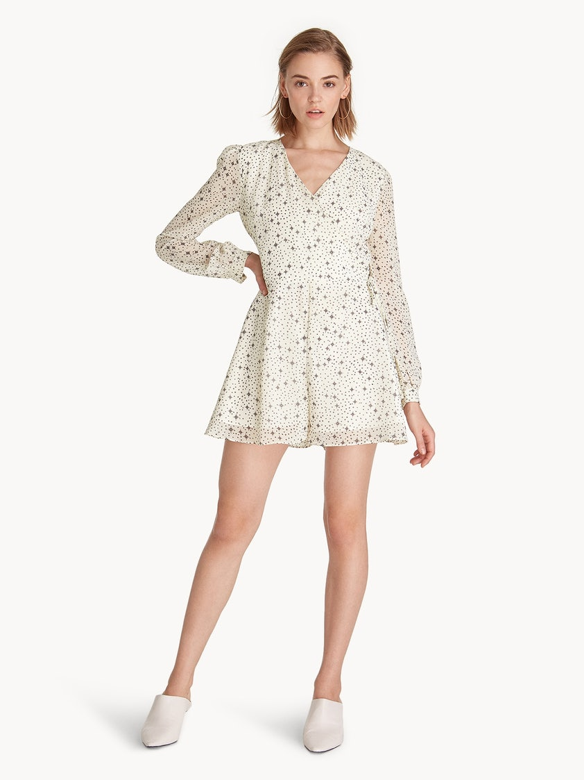 dff749b0246 Side Tie Long Sleeves Romper - White - Pomelo Fashion