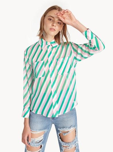 0e1b5618d Candy Striped Button Up Shirt