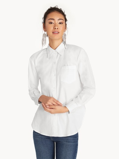 c48a8ee72 Front Pocket Buttoned Up Shirt - White