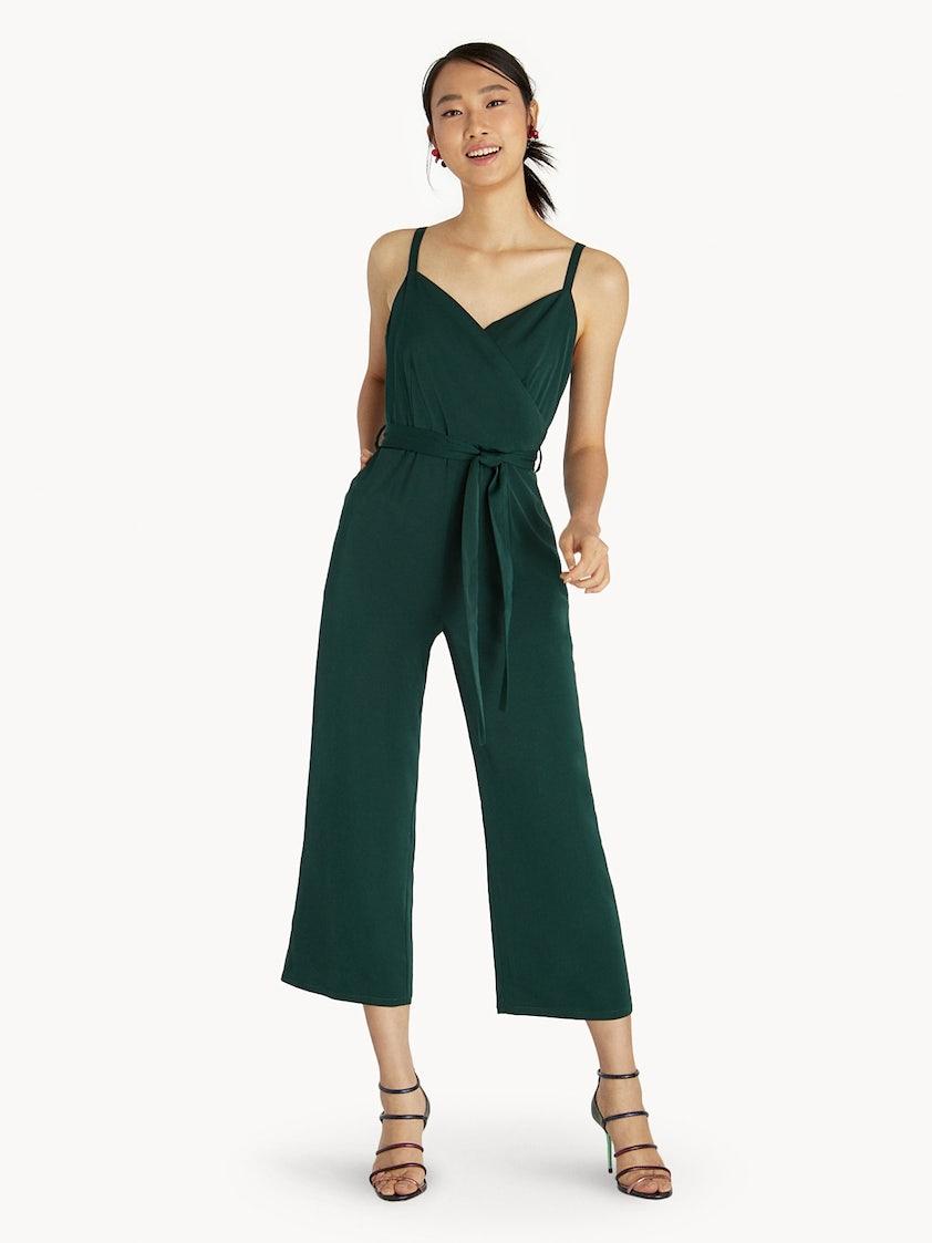 93407a2b2323 Cami Tie Waist Jumpsuit - Green - Pomelo Fashion