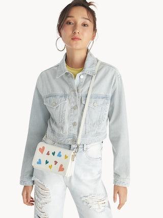 e83af4fc2 Heart Foldover Crossbody Bag - White - Pomelo Fashion