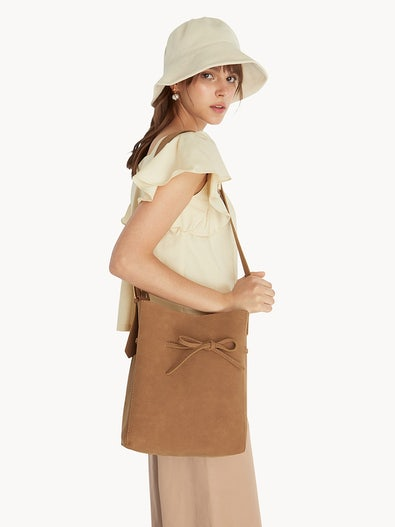 5aba27e40901b Canvas Bucket Hat - Yellow · Bow Open Tote Bag - Brown
