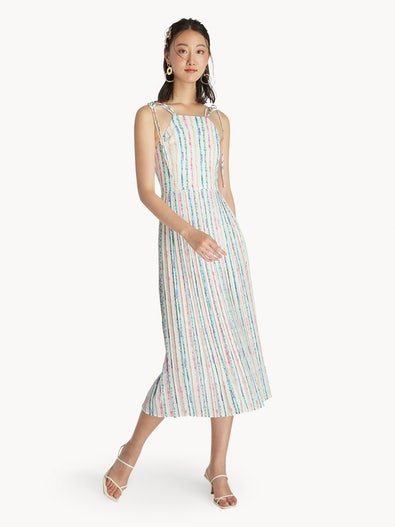 49826096a8f Maxi Colorful Stripe Printed Dress - White