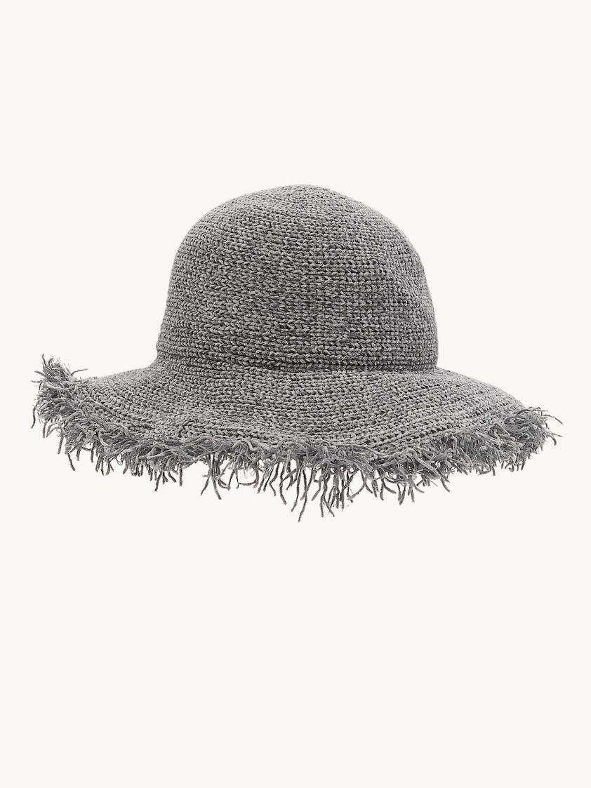 ab329feafcaa6 Frayed Edge Bucket Hat - Black - Pomelo Fashion