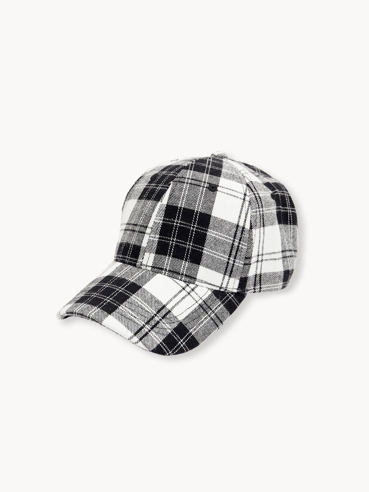 7a556dee462f6 Price  290 ฿  Name  Plaid Cap - Black White  icon