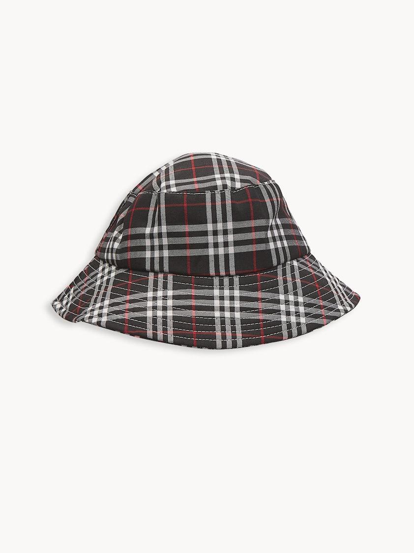 465f6225 Tartan Bucket Hat - Black - Pomelo Fashion