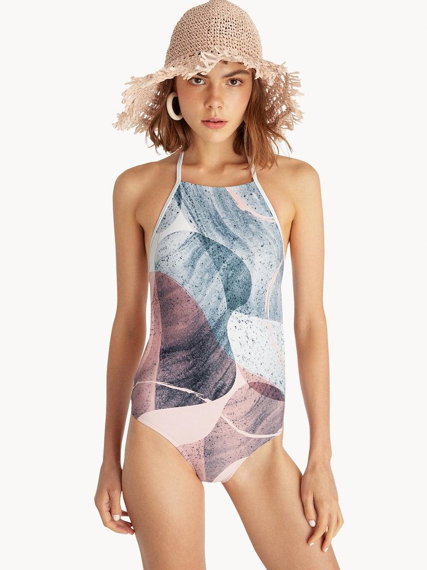 b16c3c9e329fd Sea Salt & Vinegar One Piece Swimsuit - Pink - Pomelo Fashion