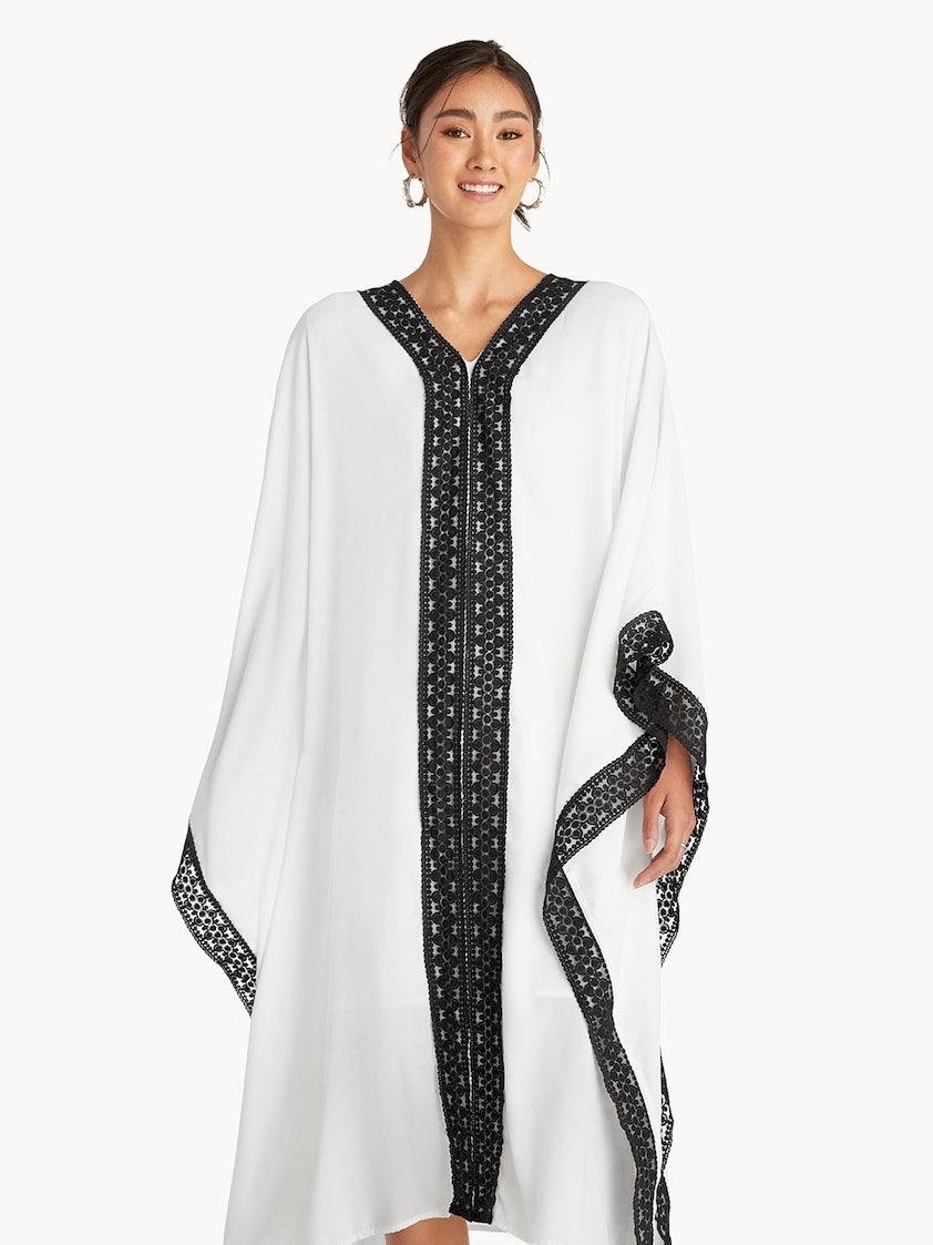8db5fd4839 Maxi Loose Laced Hem Dress - White - Pomelo Fashion
