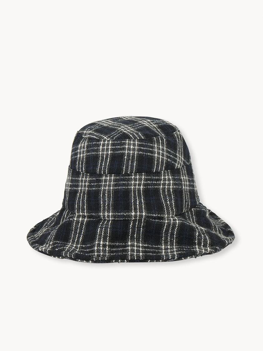 edafb6ee Soft Tartan Bucket Hat - Black - Pomelo Fashion