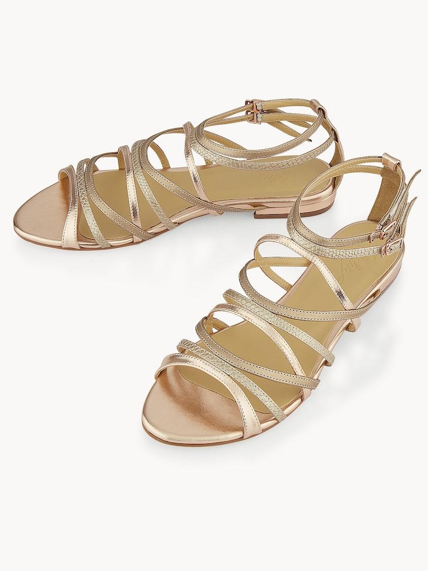 3e167be52f69f Philia Seychelles Sandals - Gold - Pomelo Fashion