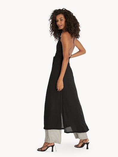 12f8874688 Maxi Open Back Cover Up Dress - Black