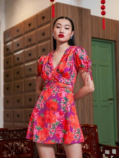 pomelo cny outfits collection v neck dress