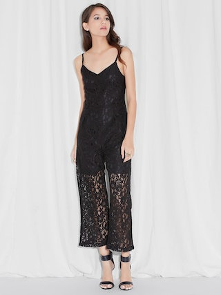 35b1d43896e4 Moonlight Lace Jumpsuit, Black - Pomelo Fashion
