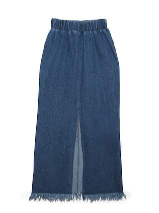 4d50bc84e49 Flashback Denim Maxi Skirt - Blue - Pomelo Fashion