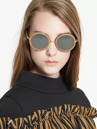 7b7a2dd0c Amsterdam Circle Sunglasses - Brown - Pomelo Fashion