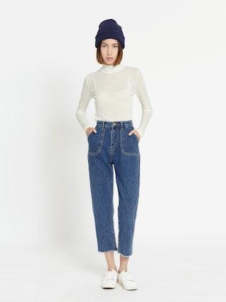 ac1f5480a3 Martin Raw Hem Mom Jeans - Pomelo Fashion