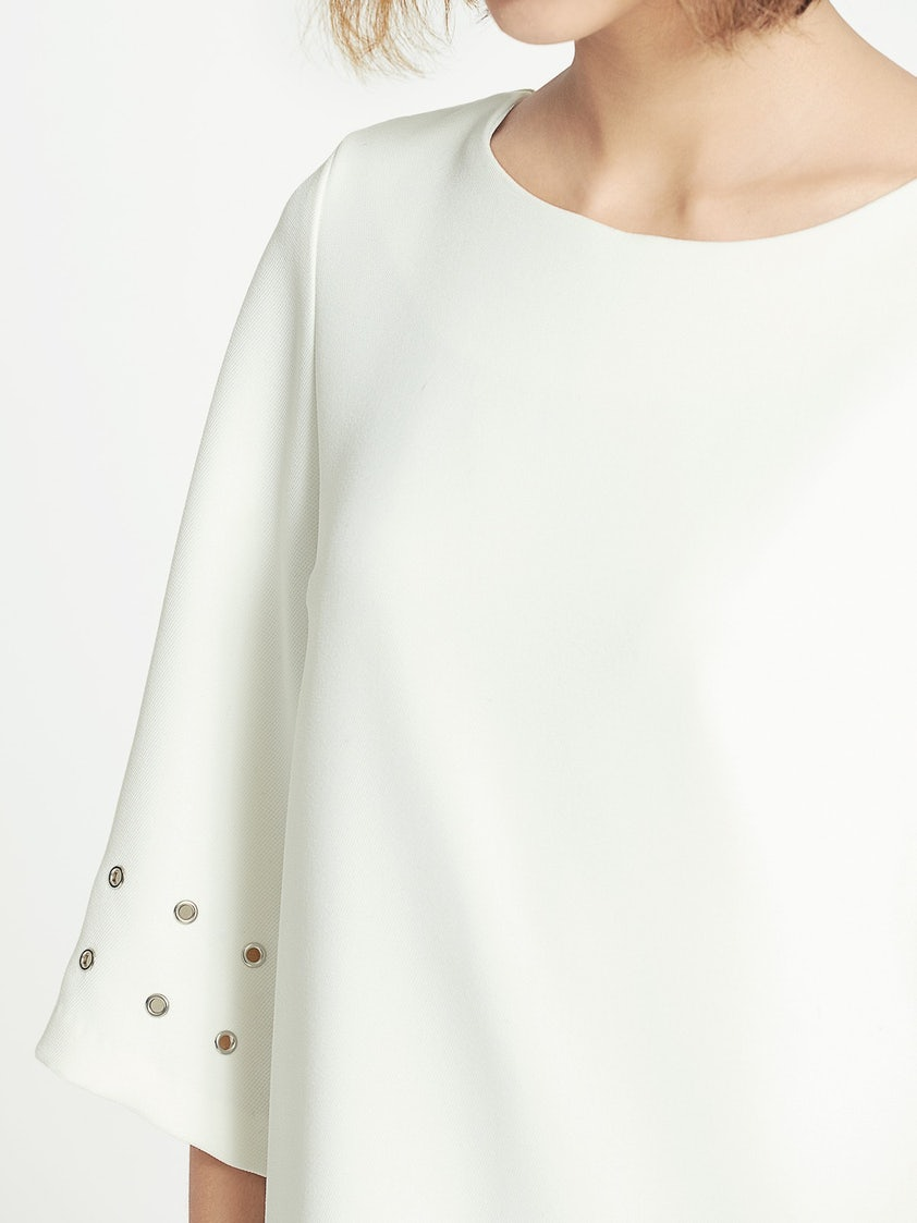 0ab5e72231c1 Carolina Eyelet Sleeve Shift Dress - Pomelo Fashion