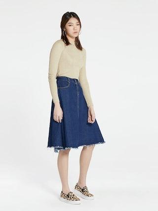 65513e3606 Tiffany A-line Denim Skirt - Pomelo Fashion