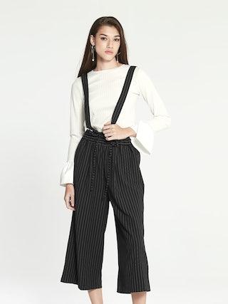 ec16f0e798f5 Dahlia Wide Leg Jumpsuit - Pinstripes - Pomelo Fashion