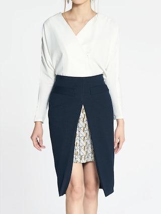 f47810fa09 Patterson Layered Pencil Skirt - Pomelo Fashion