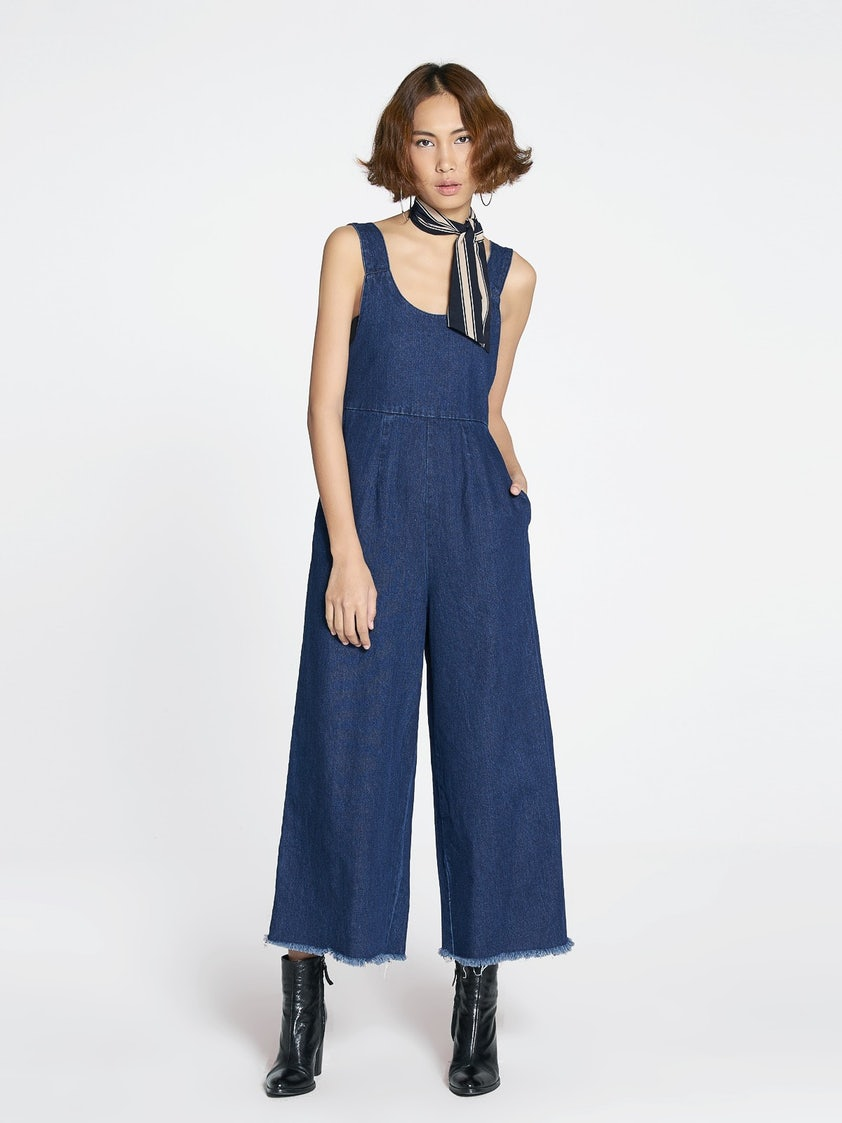 da31330e5d1 Yoyo Wide Leg Denim Jumpsuit - Pomelo Fashion