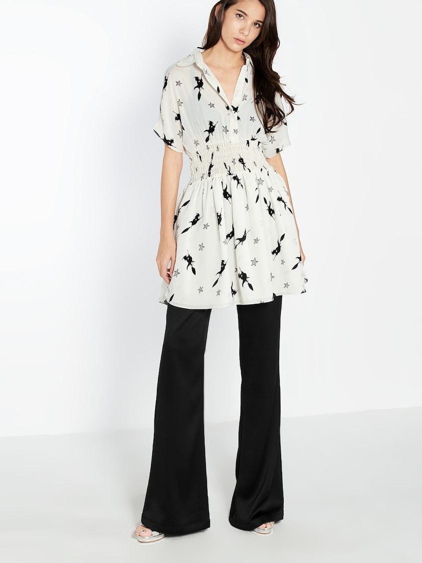 b47de7e128279 Zaina Witch Printed Dress - White - Pomelo Fashion
