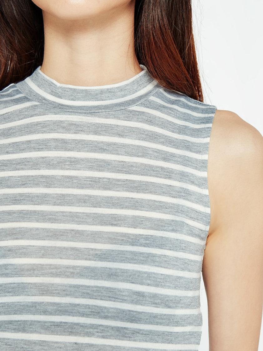a1997dc1c81953 Evan Striped Tank Top - Light Gray - Pomelo Fashion