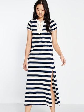 b113d896da2 Erika Lace Up Maxi Dress - Pomelo Fashion