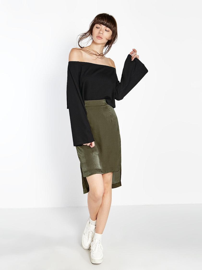 1965125920b8a Aden Bell Sleeve Off Shoulder Top - Black - Pomelo Fashion