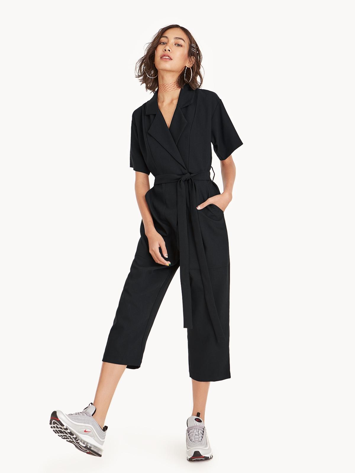 0c790a8a2746 Arden Short Sleeve Jumpsuit - Black - Pomelo Thailand