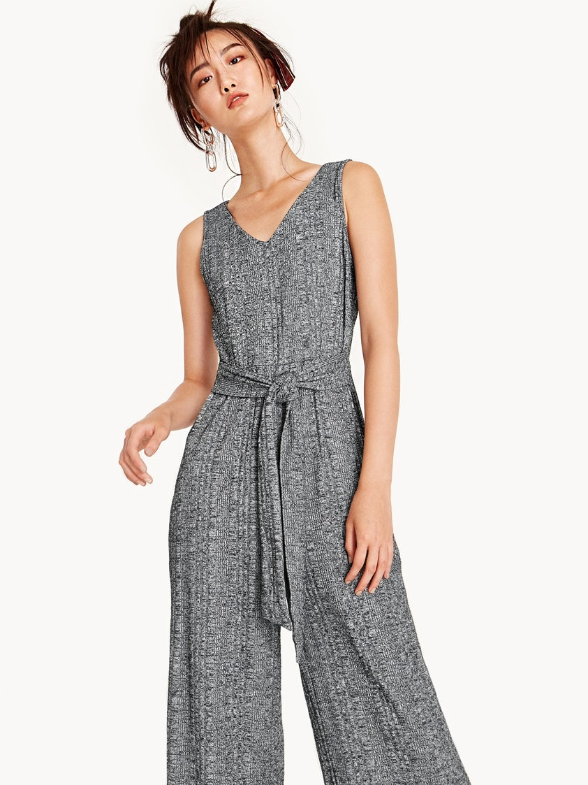 1bfc6a901929 Gayle Sleeveless Tie Jumpsuit - Pomelo Fashion