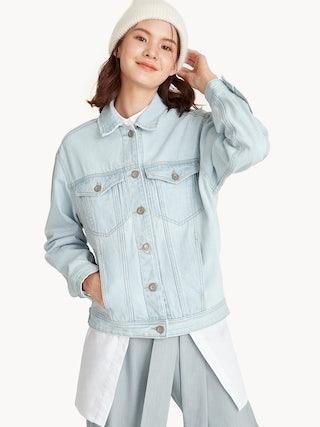 7f0fe5e4 Oversized Denim Jacket - Light Wash - Pomelo Fashion