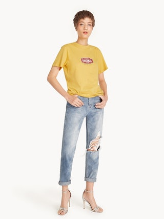1a3105402 Original Mustard Graphic Tee - Pomelo Fashion