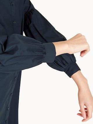 343fb5ad7 Balloon Sleeve Button Down Shirt Dress - Pomelo Fashion