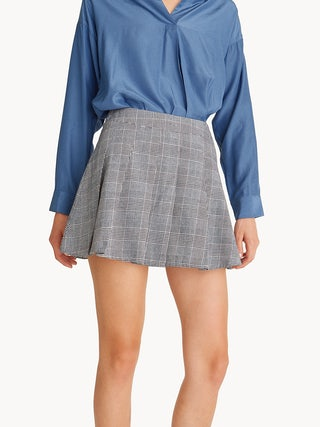 7828b4abbed Mini Glen Plaid Pleated Skirt - Pomelo Fashion