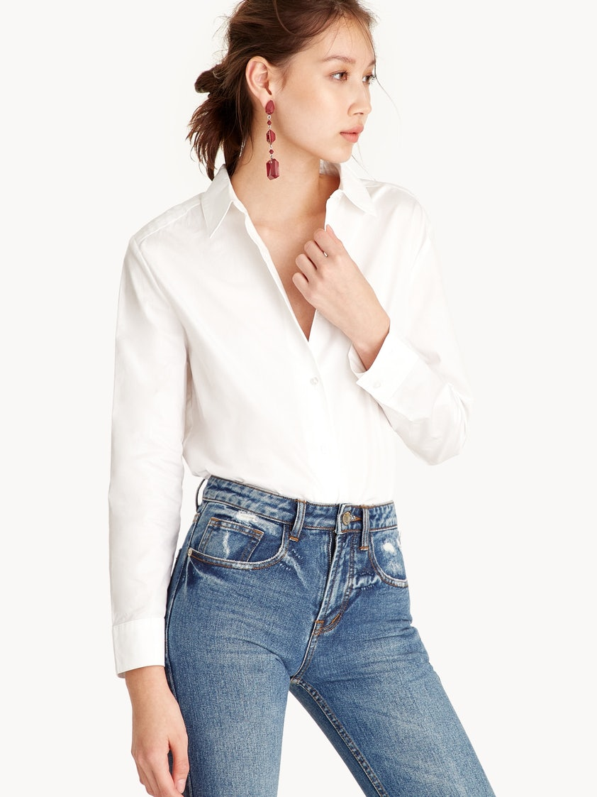 d0cdcde52 Lower Back V-Cut Shirt - Pomelo Fashion
