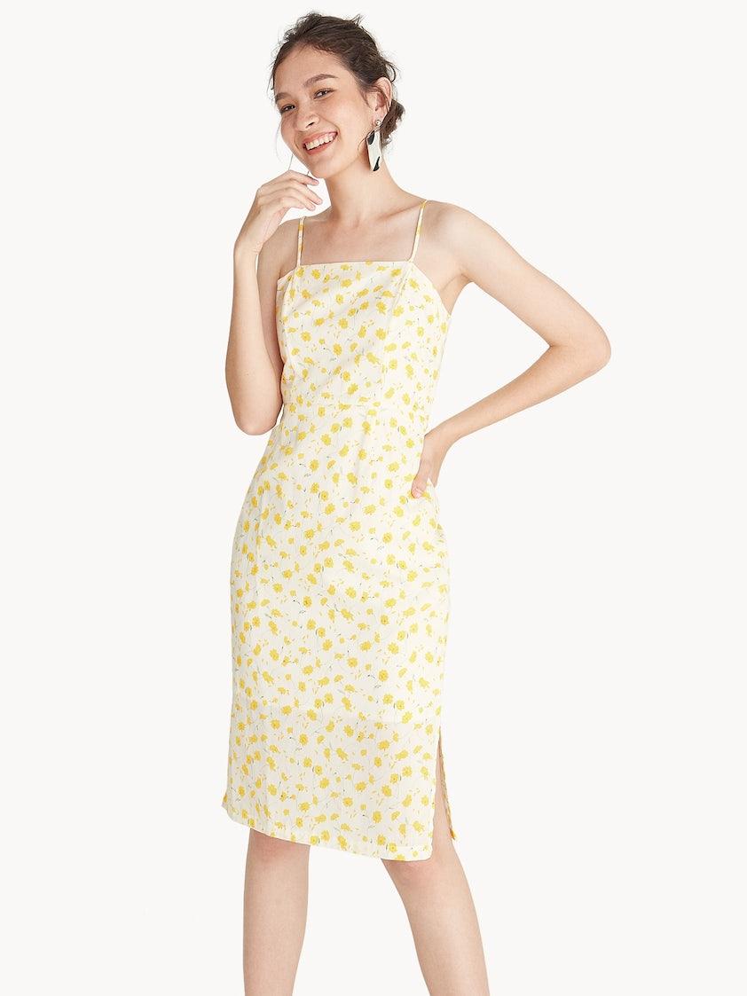 7b4d2317f92b Midi Cami Floral Dress - Pomelo Fashion